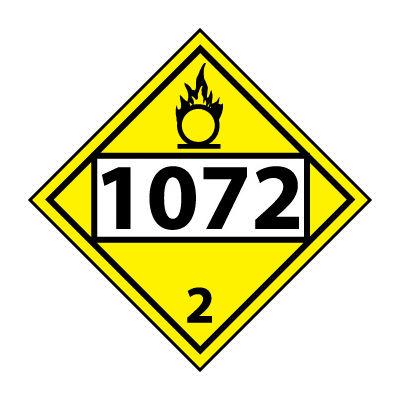 DOT Placard - Four Digit 1072