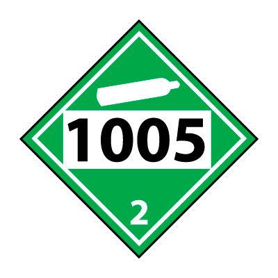 DOT Placard - Four Digit 1005