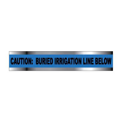 "Detectable Underground Warning Tape - Caution Buried Irrigation Line Below - 3""W"