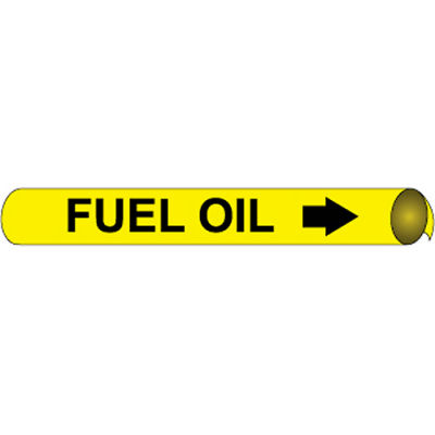 Precoiled and Strap-on Pipe Marker - Fuel Oil