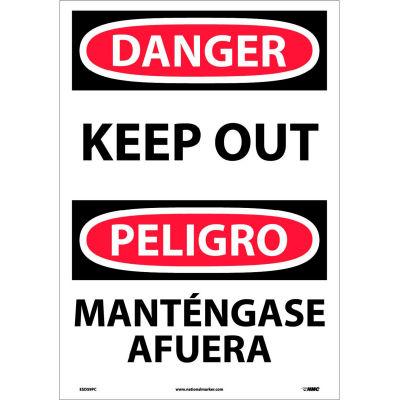 Bilingual Vinyl Sign - Danger Keep Out
