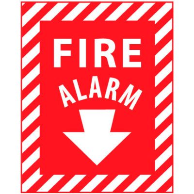 Fire Safety Sign - Fire Alarm - Aluminum