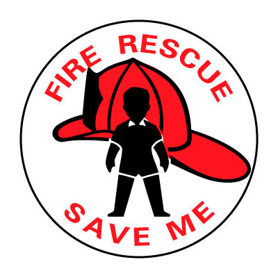 Fire Safety Sign - Fire Rescue Save Me