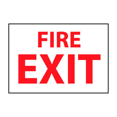 Fire Safety Sign - Fire Exit - Vinyl