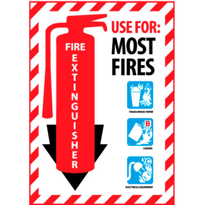 Fire Extinguisher Class Marker - Use For Most Fires - Vinyl