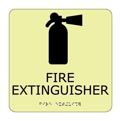 Glow Braille - Fire Extinguisher