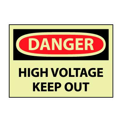 Glow Danger Vinyl - High Voltage Keep Out