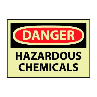 Glow Danger Rigid Plastic - Hazardous Chemicals
