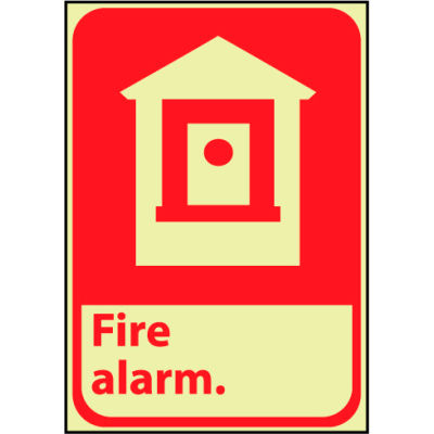 Glow Sign Vinyl - Fire Alarm