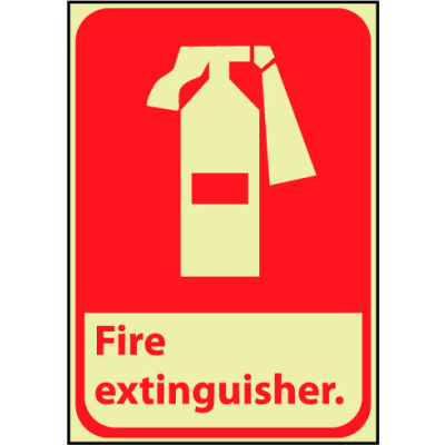 Glow Sign Vinyl - Fire Extinguisher