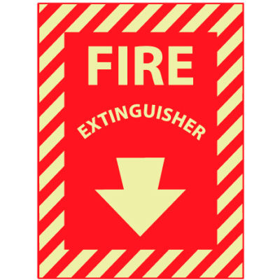 Glow Sign 12x9 - Fire Extinguisher