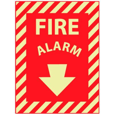 Glow Sign Vinyl 12x9 - Glow Fire Alarm