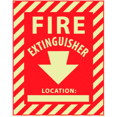 Glow Sign Rigid Plastic - Fire Extinguisher Location
