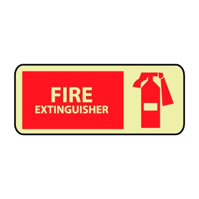 Glow Sign Vinyl - Fire Extinguisher Graphic