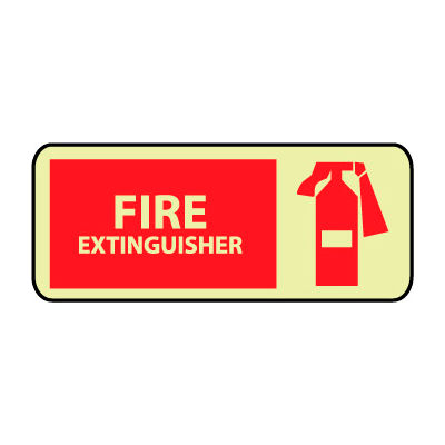 Glow Sign Rigid Plastic - Fire Extinguisher Graphic