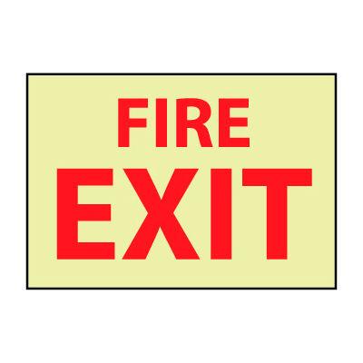 Glow Sign Vinyl - Fire Exit