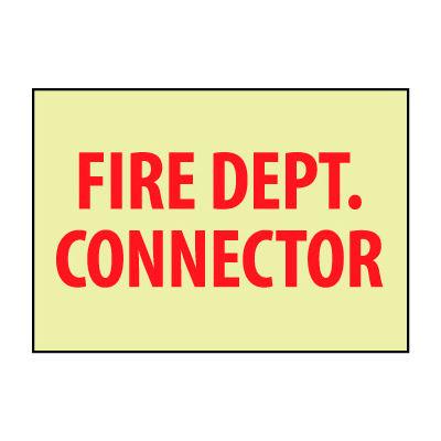 Glow Sign Vinyl - Fire Dept. Connector