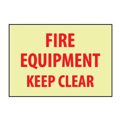Glow Sign Vinyl - Fire Equipment