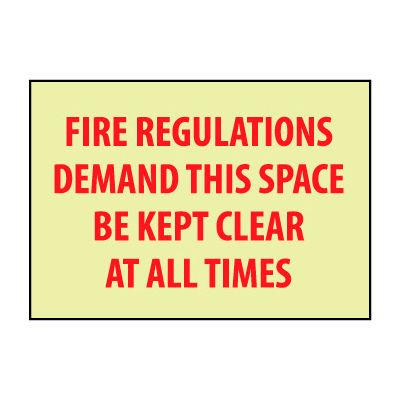 Glow Sign Vinyl - Fire Regulations