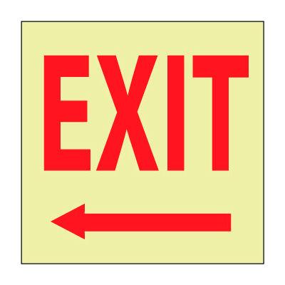 Glow Sign Rigid Plastic - Exit