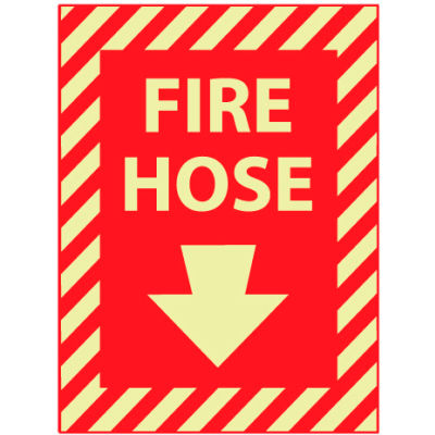 Glow Sign Vinyl - Fire Hose(With Down Arrow)