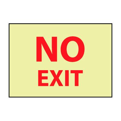 Glow Sign Rigid Plastic 10x14 - No Exit