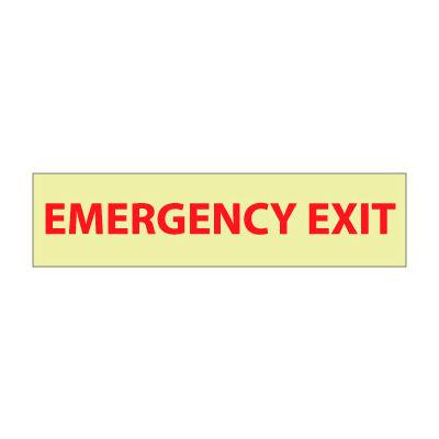 Glow Sign Vinyl - Emergency Exit