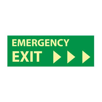 Glow Sign Rigid Plastic - Emergency Exit(Right Arrow)