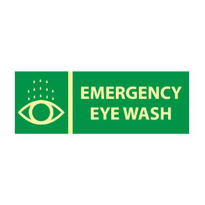 Glow Sign Vinyl - Emergency Eye Wash