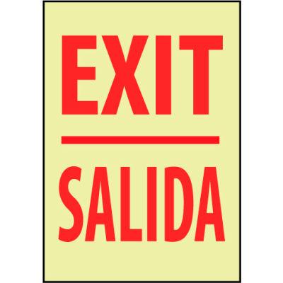 Glow Sign Vinyl - Exit/Salida Bilingual