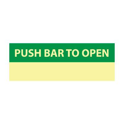 Glow Sign Vinyl - Push Bar To Open
