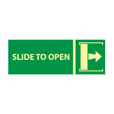 Glow Sign Vinyl - Slide To Open(w/ Right Arrow)