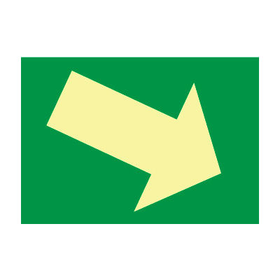 Glow Sign Rigid Plastic - Arrow Diagonal
