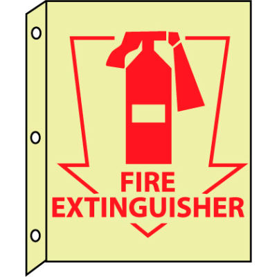 3D Glow Sign Plastic - Fire Extinguisher