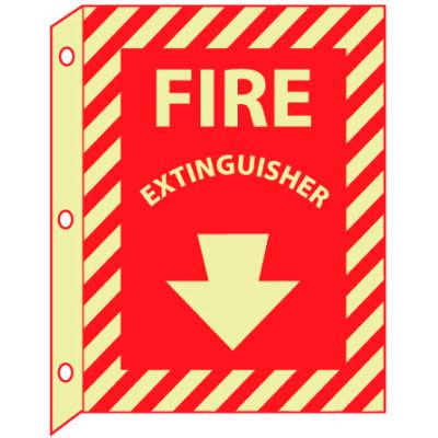 3D Glow Sign Plastic - 12X9 Fire Extinguisher
