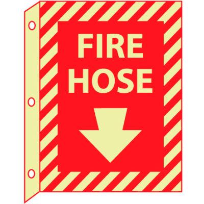 3D Glow Sign Plastic - Fire Hose