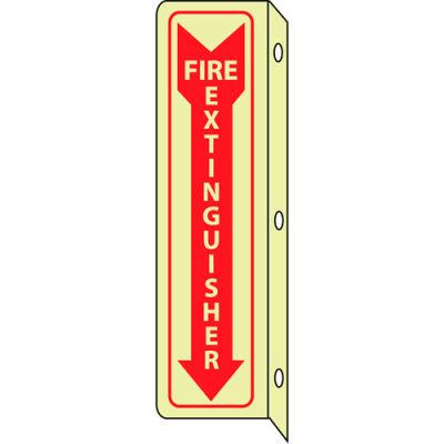 3D Glow Sign Plastic - 18X4 Fire Extinguisher