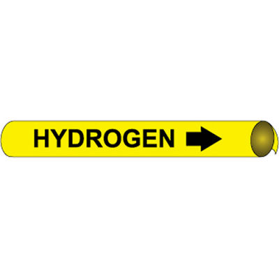 Precoiled and Strap-on Pipe Marker - Hydrogen