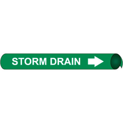 Precoiled and Strap-on Pipe Marker - Storm Drain
