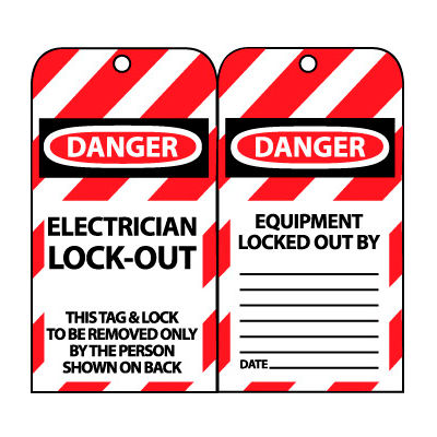 Lockout Tags - Electrician Lock-Out