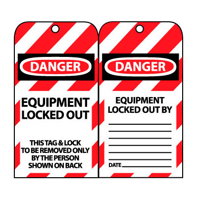 Lockout Tags - Equipment Locked Out