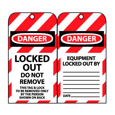 Lockout Tags - Locked Out Do Not Remove