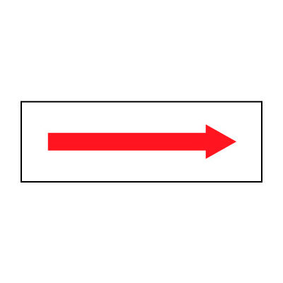 Fire Safety Sign - Arrow - Plastic