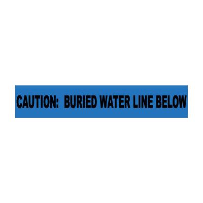 "Non-Detectable Underground Warning Tape - Caution Buried Water Line Below - 3""W"