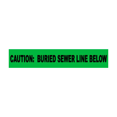 """Non-Detectable Underground Warning Tape - Caution Buried Sewer Line Below - 3""""W"""