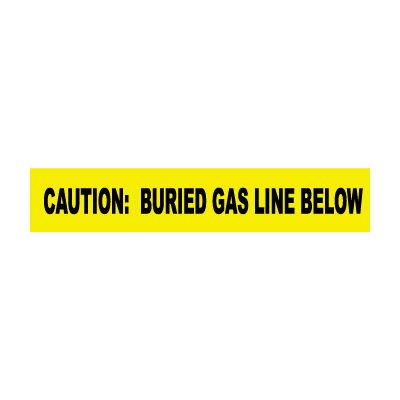 "Non-Detectable Underground Warning Tape - Caution Buried Gas Line Below - 6""W"