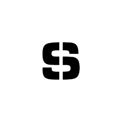 """Individual Character Stencil 24"""" - Letter S"""