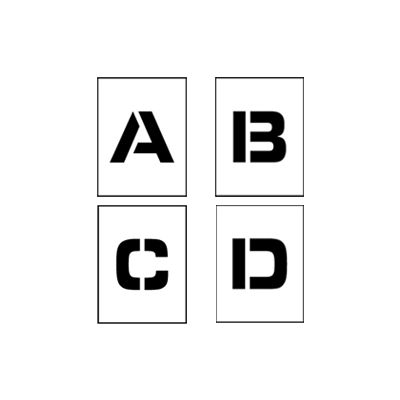 """Individual Character Stencil 4"""" - Letter Set A-Z"""