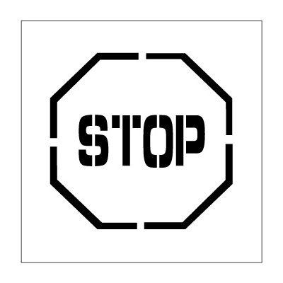 Plant Marking Stencil 24x24 - Stop