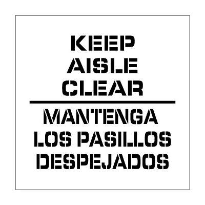 Plant Marking Stencil 20x20 - Keep Aisle Clear Bilingular